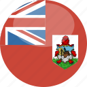 bermuda, circle, flag, gloss icon