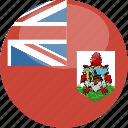 bermuda, circle, flag, gloss icon