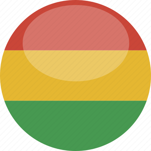 bolivia, circle, flag, gloss icon