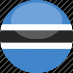 botswana, circle, flag, gloss icon