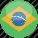 brazil, circle, gloss, flag