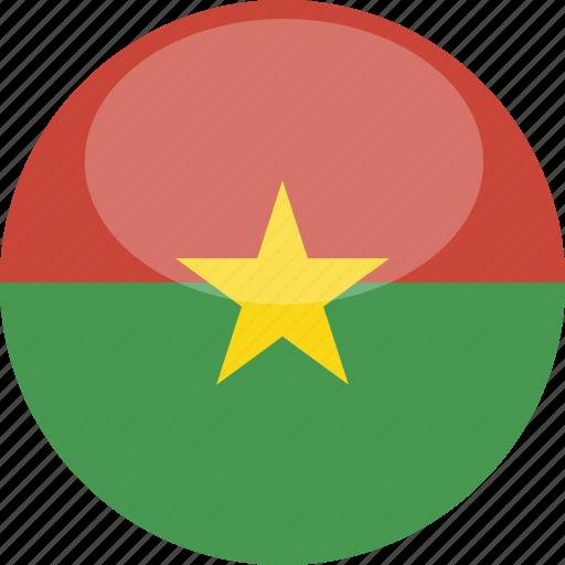 burkina, circle, faso, flag, gloss icon