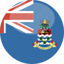 cayman, circle, flag, gloss, islands icon