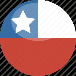 chile, circle, flag, gloss icon