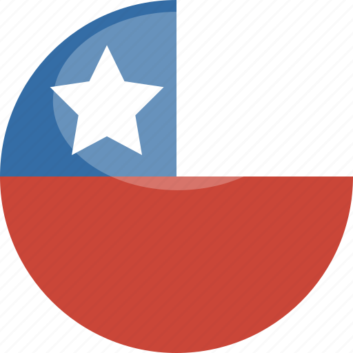 Circle, gloss, flag, chile icon - Download on Iconfinder