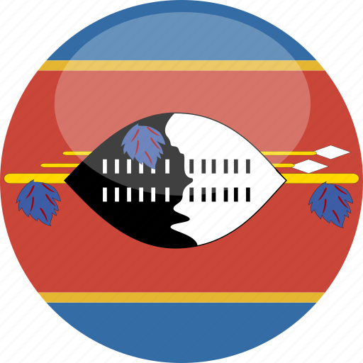 circle, cirlce, flag, gloss, swaziland icon