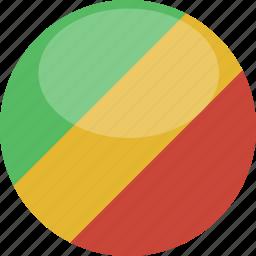 circle, congo, flag, gloss icon