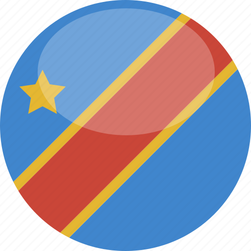 circle, congo, democratic, flag, gloss, republic icon
