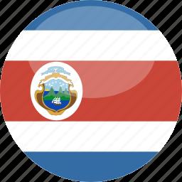 circle, costa, flag, gloss, rica icon