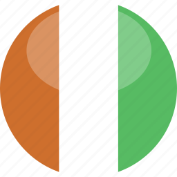 circle, cote, divoire, flag, gloss icon