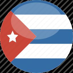 circle, cuba, flag, gloss icon
