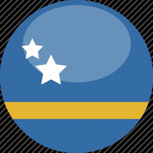 circle, curacao, flag, gloss icon