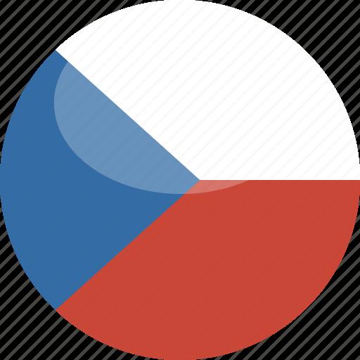 circle, czech, flag, gloss, republic icon