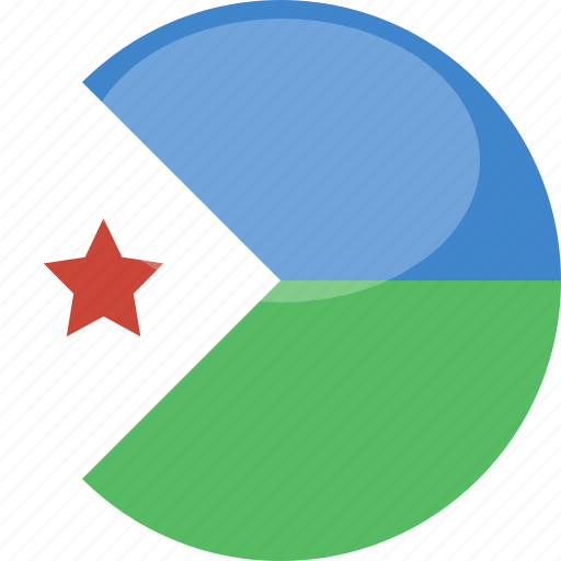circle, djibouti, flag, gloss icon