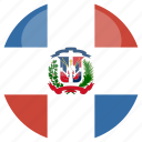 republic, circle, gloss, flag, dominican
