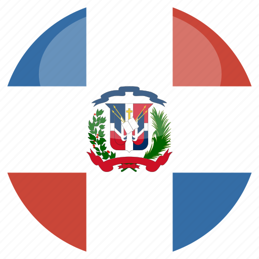 circle, dominican, flag, gloss, republic icon