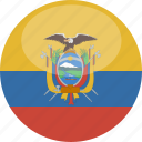 circle, ecuador, flag, gloss icon