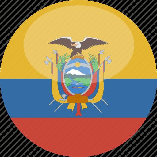 circle, ecuador, flag, gloss icon