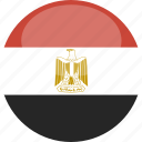 circle, egypt, flag, gloss icon