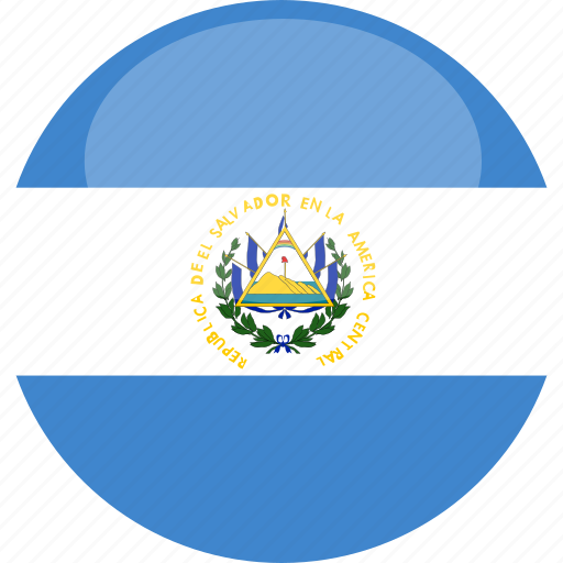 circle, el, flag, gloss, salvador icon