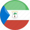 circle, equatorial, flag, gloss, guinea icon