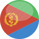 circle, eritrea, flag, gloss icon