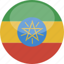 circle, ethiopia, flag, gloss icon