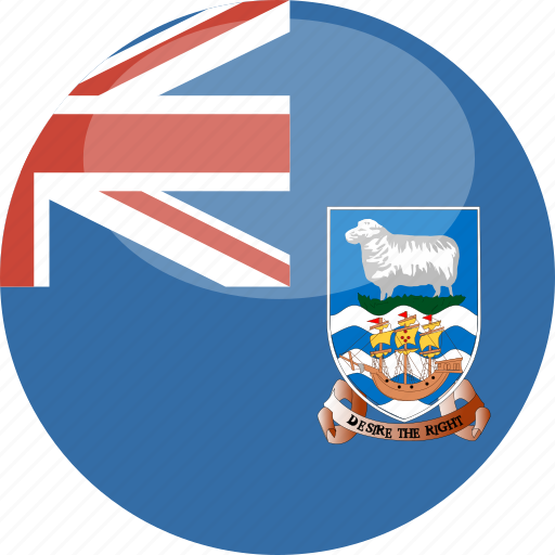 circle, falkland, flag, gloss, islands icon