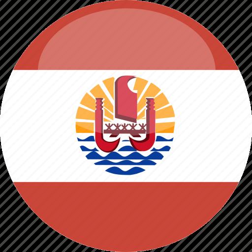 circle, flag, french, gloss, polynesia icon