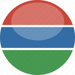 circle, flag, gambia, gloss icon