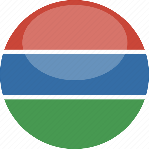 circle, flag, gambia, gloss icon