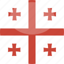 circle, flag, georgia, gloss icon