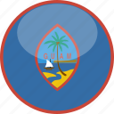 circle, flag, gloss, guam icon