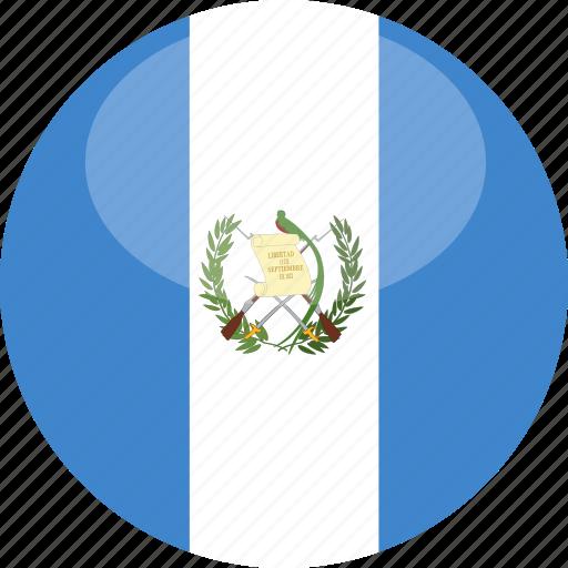 circle, flag, gloss, guatemala icon