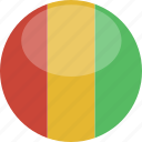 circle, flag, gloss, guinea icon