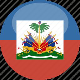 circle, flag, gloss, haiti icon