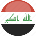 circle, flag, gloss, iraq icon