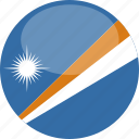 circle, flag, gloss, islands, marshall icon