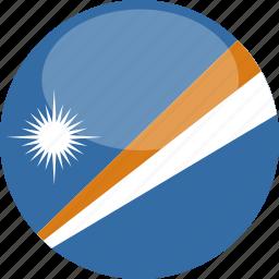 circle, flag, gloss, islands, marshall icon