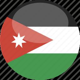 circle, flag, gloss, jordan icon