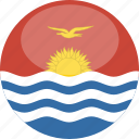 kiribati, circle, gloss, flag