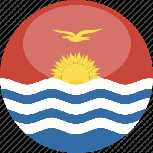 circle, flag, gloss, kiribati icon