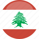 circle, flag, gloss, lebanon icon