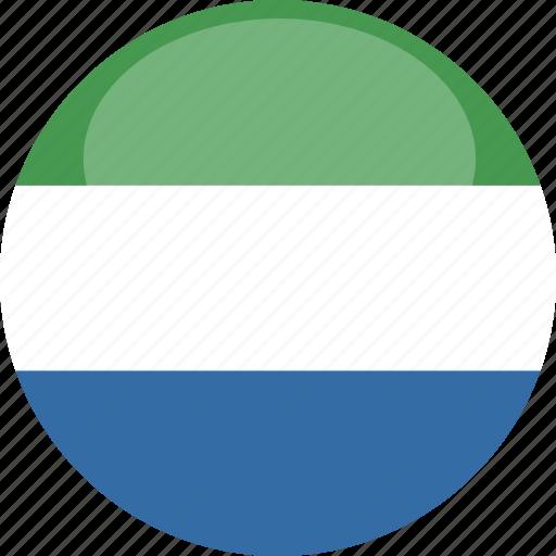 circle, flag, gloss, leone, sierra icon