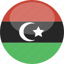 circle, flag, gloss, libya icon
