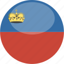 liechtenstein, circle, gloss, flag
