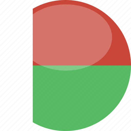 circle, flag, gloss, madagascar icon