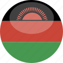circle, flag, gloss, malawi icon