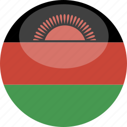 circle, flag, gloss, malawi icon