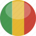circle, flag, gloss, mali icon